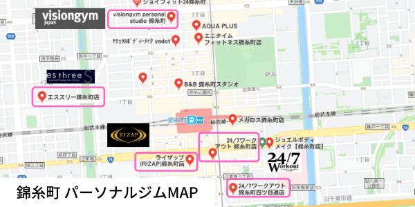 錦糸町 パーソナルトレーニングジム MAP